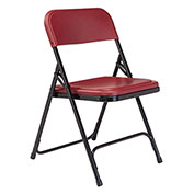 Plastic Folding Chair - Burgundy Seat/Black Frame - Pkg Qty 4