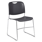 Stacking Chair - Plastic - Gray