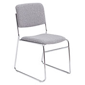 Signature Fabric Padded Stack Chair - Gray - Pkg Qty 2