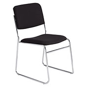 Stacking Chair - Fabric - Black - Pkg Qty 2