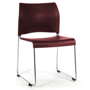 Stacking Chair - Plastic - Burgundy - 8800 Series