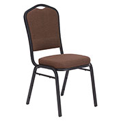 9300 Silhouette Fabric Padded Stacking Chair - Brown
