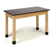"NPS Science Lab Table - Phenolic Top - 24""W x 60""L x 30""H - Black"