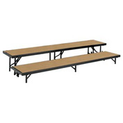 "2 Level Tapered Riser with Hardboard - 60""L x 18""W - 8""H & 16""H"