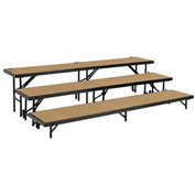 "3 Level Tapered Riser with Hardboard - 60""L x 18""W - 8""H, 16""H & 24""H"