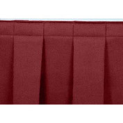 "4'L Box-Pleat Skirting for 16""H Stage - Red"