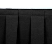 "4'L Box-Pleat Skirting for 24""H Stage - Black"
