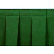 "4'L Box-Pleat Skirting for 24""H Stage - Green"