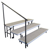 Side Guard Rail for 3-Level TransPort Risers - Black