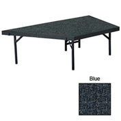 "Stage Pie Unit with Carpet for 48""W x 16""H Stage Units - Blue"
