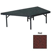 "Stage Pie Unit with Carpet for 48""W x 16""H Stage Units - Red"