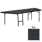 "Stage Pie Unit with Carpet for 48""W x 24""H Stage Units - Blue"