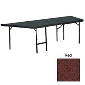"Stage Pie Unit with Carpet for 48""W x 24""H Stage Units - Red"