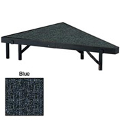 "Stage Pie Unit with Carpet for 48""W x 8""H Stage Units - Blue"