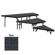 "Stage Pie Set with Carpet for 36""W Stage Units - 8""H, 16""H & 24""H - Blue"
