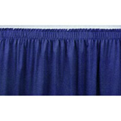 "4'L Shirred-Pleat Skirting for 16""H Stage - Blue"