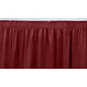 "4'L Shirred-Pleat Skirting for 24""H Stage - Red"