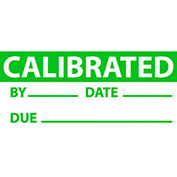"Nmc Inl3 Inspection Label - Calibrated, 1"" X 2-1/4"", Green/White, 3 Per Pack"