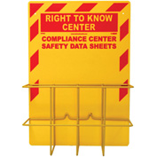 "NMC RTK8, Right To Know Information Center w/Backboard, No Binder, 24"" x 18"", Yellow"