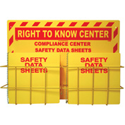 "NMC RTK82, Right To Know Information Center w/ 2 Racks, 20"" x 28"", Yellow"