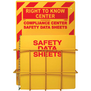 "NMC RTK84, Right To Know Information Center, 20"" x 14"", Red/Yellow"