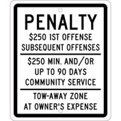 "NMC TMS324H Traffic Sign, Reserved Parking New Jersey, 12"" X 10"", White"