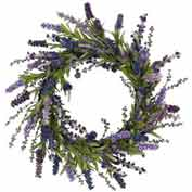 Nearly Natural 20'' Lavender Wreath