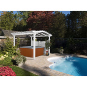 "New England Arbors® VA42011 Bellagio Pergola, 120"" x 120"" x 108.25"""