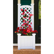 "New England Arbors® VA68221 Kensington Box & Trellis, 20"" x 23"" x 63.7"""