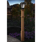"New England Arbors® Burton Composite Lamp Post, 6"" x 6"" x 72"""