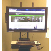 "Newcastle Systems B178 Post Mounted LCD Holder (Up to 42"") For NB, PC & RC Series Workstations"