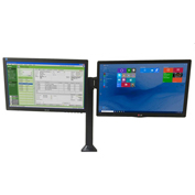 Newcastle Systems B267 Post Mount Dual Side-by-Side Monitor Holder For NB, PC & EC Series Carts