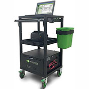 Newcastle Systems EC380 Entry-Level EcoCart Mobile Powered Laptop Cart with 100AH Battery