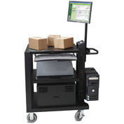 Newcastle Systems PC538 PC Series Mobile Powered Workstation, Heavy-Duty Power Package 300AH Battery