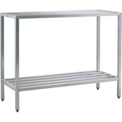 "Aluminum Heavy Duty 2-Shelf Rack, 20""Wx48""Hx72""L"