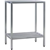 "Aluminum Heavy Duty 2 Shelf-Rack, 24""Wx48""Hx36""L"