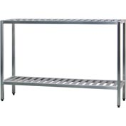 "Aluminum T-Bar 2-Shelf Rack, 24""Wx48""Hx60""L"
