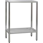 "Aluminum Heavy Duty 2-Shelf Rack, 20 X48""Hx42""L"