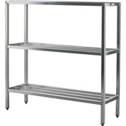 "Aluminum Heavy Duty 3-Shelf Rack, 20""Wx60""Hx72""L"
