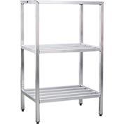 "Aluminum Heavy Duty 3-Shelf Rack, 24""Wx60""Hx72""L"