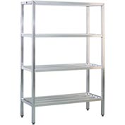 "Aluminum Heavy Duty 4-Shelf Rack, 20""Wx72""Hx36""L"