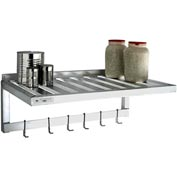 "Aluminum T-Bar Wall Shelf-Pot Rack, 20""Wx48""L"