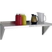 "Aluminum Solid Wall Shelf, 12""Wx36""L,18 ga."