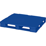 Cabka Rackable Plastic Pallet Blue 48x40 -Closed Deck, FDA Grade, 6 Runner,Fork Cap. 4400 Lbs.