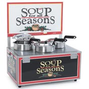 Soup Merchandiser, Triple 4 Qt Well, With Header