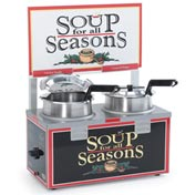 Soup Merchandiser, Double 4 Qt Well, With Header