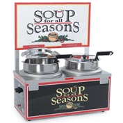 Soup Merchandiser, Double 7 Qt Well, Double Thermostat