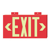 Glo-Brite Exit - Red Double Face w/ Bracket