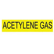 Pressure-Sensitive Pipe Marker - Acetylene Gas, Pack Of 25