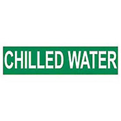 Pressure-Sensitive Pipe Marker - Chilled Water, Pack Of 25
